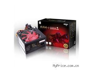 爱国者 黑暗骑士500DK电源(额定350W/宽幅/游戏版输出线设计)